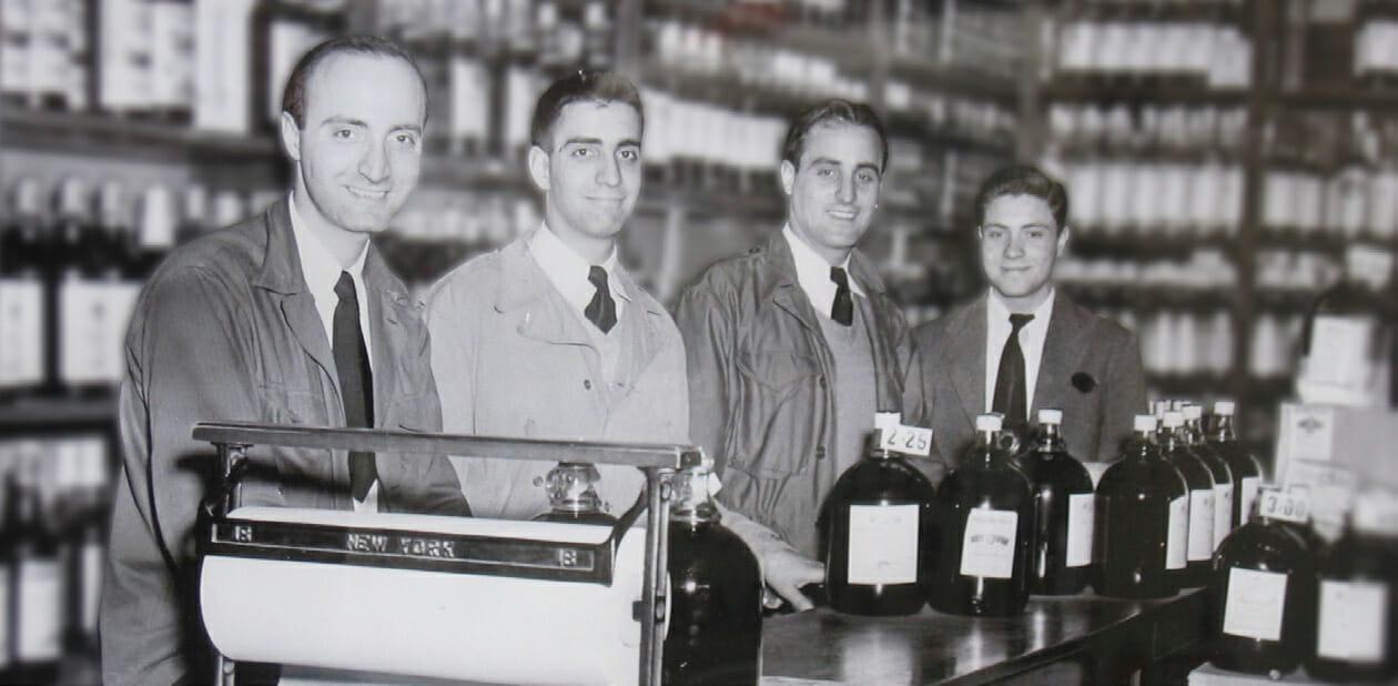 Leo Scotto, Anthony Scotto I, Sal Scotto, Frank Scotto in Brooklyn, NY. Villa Armando